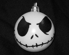 Nightmare Before Christmas Ornament  Jack Skellington by AllBalls, $10.00