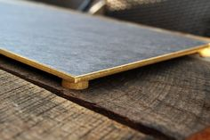 DIY Gold Rimmed Slate Tile Cheese Board