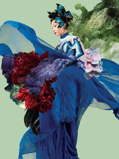 Xiao Wen Ju Stuns for Lane Crawford Spring/Summer 2014 Campaign. - Xiao Wen Ju Stuns for Lane Crawford Spring/Summer. Fashion Collage, Fashion Art, Editorial Fashion, Fashion 2014, Color Fashion, Fashion Editor, Fashion Shoot, Fashion Women, Fashion Photography Inspiration