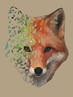 Pin by validen apricity on art ideas in 2019 watercolor art, polygon art, g Geometric Fox, Polygon Art, Fox Art, Animal Wallpaper, Art Plastique, Creative Art, Zentangle, Vector Art, Watercolor Art