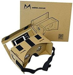 Google Cardboard Kit DIY 3D glasses by MINKANAK Virtual Reality Video Viewer Compatible with Android and Appple with Head Strap, NFC, Nose Pad, and Easy Instruction - http://vrvr.org/google-cardboard-kit-diy-3d-glasses-by-minkanak-virtual-reality-video/