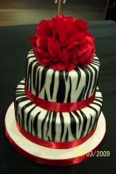 Zebra Stripes Birthday Cake By uschi1 on CakeCentral.com