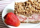 Frozen Strawberry Crunch Cake - Easy to Make and Perfect for a Hot Summer Day