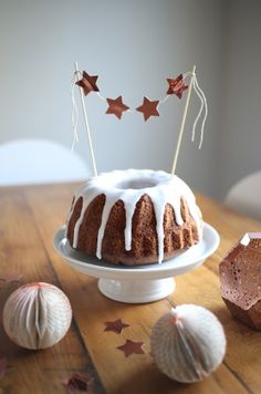 Rotweinkuchen mit DIY cake topper von karina_s