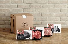 Food Box Packaging, Cake Packaging, Food Packaging Design, Brand Packaging, Branding Design, Carne Madurada, Beef Cuts Chart, Carnicerias Ideas, Protein Shop
