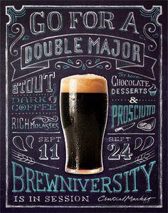 RBMM – Graphic Design Dallas, TX | Central Market Brewniversity  beer event poster