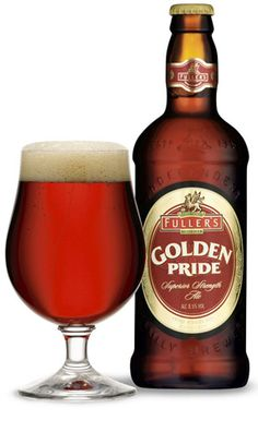 While most of Fuller's beers are brewed to be enjoyed, by and large, in pints, we also boast an exceptionally fine strong bottled ale, the formidable Golden Pride, which is designed to be enjoyed in smaller measures. At 8.5% ABV, it is as powerful as some wines, but bursting with flavour.