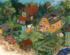 Lovely folk art by Phoebe Wahl
