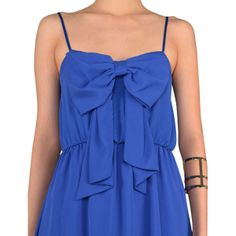 Royal Blue Bow Front Dress