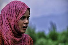 Indian Girl at Mugul Garden, Srinagar