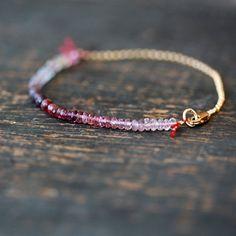 Spinel Array Bracelet Premium Gemstone Color por ShopClementine
