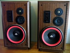 """Cerwin Vega AT-12 Speakers. Serious audiophiles may turn up their collective nose, but I am obsessed with the """"D"""" and """"AT"""" series CVs."""