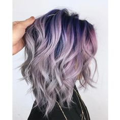 Rooty Pastel Purple - Behindthechair com Light Purple Hair, Hair Color Purple, Cool Hair Color, Purple Ombre Hair Short, Cool Tone Hair Colors, Lilac Grey Hair, Blonde Hair With Purple Tips, Purple Balayage, Violet Hair