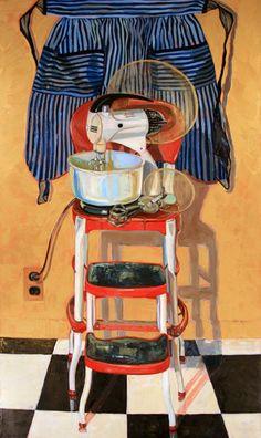 "Mixer Maesta, Oil on Linen, 36"" x 52"", ©2008 Jennie Traill Schaeffer."