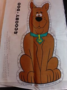 This is a very rare, vintage 1977 Scooby Doo Cut N Sew Fabric Panel. Great beginners project. View pictures for condition.