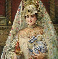 Маковский Константин Егорович (1839 - 1915) «Боярышня»