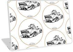 'Crazy Car Art Laptop Skin by ozizo Weird Cars, Car Illustration, Kustom Kulture, Canvas Prints, Art Prints, Laptop Skin, Cotton Tote Bags, Old School, Notebook