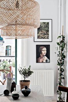 my scandinavian home: Serene and relaxed small space living in Gothenburg Small Space Living, Small Spaces, Living Spaces, Decoration Inspiration, Interior Inspiration, Decor Ideas, Sinnerlig Ikea, Design Scandinavian, Interior Styling