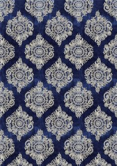 By Artist Unknown🇺🇸. I Wallpaper, Pattern Wallpaper, Wallpaper Backgrounds, Textures Patterns, Fabric Patterns, Blue Patterns, Home Confort, Art Chinois, Art Japonais