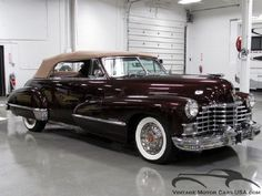 1946 Cadillac Series 62 Convertible, Plus 100s of Classic Cars http://www.pinterest.com/njestates/cars/ Thanks to http://www.njestates.net/real-estate/nj/listings