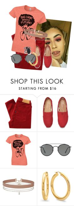 """""""don't get twisted in a"""" by inspiredbyart345 ❤ liked on Polyvore featuring Levi's Made & Crafted, TOMS, Ray-Ban, Miss Selfridge and Kendra Scott"""