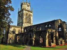 All Saints Church Pontefract where me and fat lad got married in 1982!