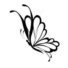 Butterfly Digistamp Digital Stamp 'Butterfly by lillysnightgarden, $2.00