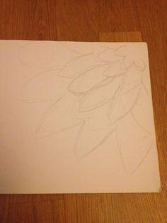 Begin schets bloem