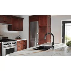 9159-CZ-DST,BL-DST,AR-DST Delta Trinsic Pull Down Single Handle Kitchen Faucet with MagnaTite® Docking and Diamond Seal Technology & Reviews: delta | Wayfair