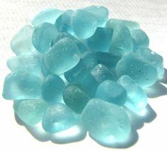 Aqua Blue Sea Glass Tinies for Crafts or Jewelry Design