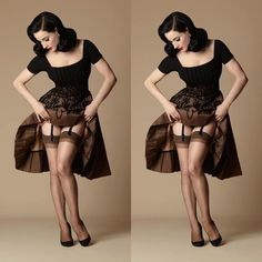 Secrets In Lace sur Instagram: We are thrilled to introduce @ditavonteese Day Sheer Stockings by @secretsinlace - these are a lovely 100% Nylon in sizes Small to 1X. Click the Dita Von Teese button on our site at http://www.secretsinlace.com