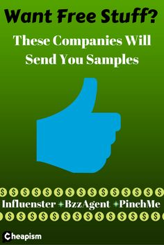 Free samples sent right to your door! All you have to do is try them out and write short reviews.