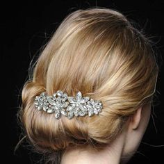 Crystal hair piece, hair clip. Cute look for any occasion.