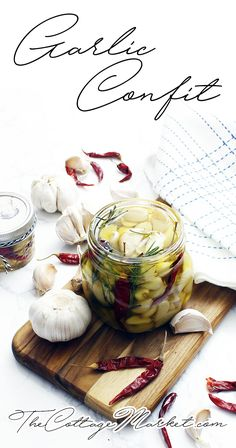 DIY Garlic Confit It's that SECRET WOW Ingredient!  Quick and Easy to make...great for gifts and great in just about any recipe that is garlic friendly!  When you use it you will say WOW!!!