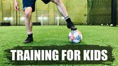 Soccer Training For Kids Soccer Skills For Kids, Football Drills For Kids, Kids Football Training, Soccer Drills, Football Gif, Soccer Coaching, Soccer Training, Youth Soccer, Kids Soccer