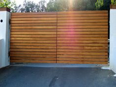 Image result for horizontal slat driveway gate