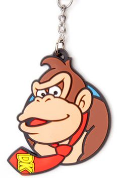 Middle Realm - Official Comic, Gaming, Movie and Anime Merchandise Rubber Keychain, Anime Merchandise, Donkey Kong, Super Mario Bros, Nintendo, Personalized Items, Comics, Games, Larry