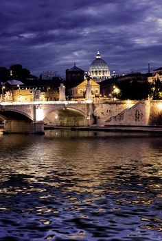 The Vittorio Emanuele II bridge. I used to walk across it every day to and from my apartment. Roma, Italia <3