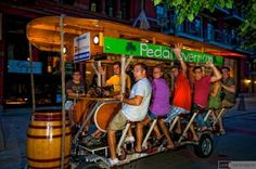 I need to check this out. And for a unique drinking experience, you can take a ride on the Pedal Tavern.