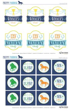 Free Kentucky derby party printables, which I would have had these.  Maybe next year.