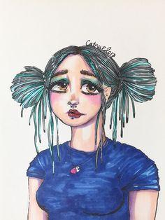Original artwork (self portrait) done with markers  #selfportrait #illustration #illustrations #markerdrawing #markers #chameleonpens