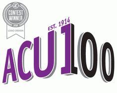ACUI Centennial Logo by Lenore Messler, via Behance