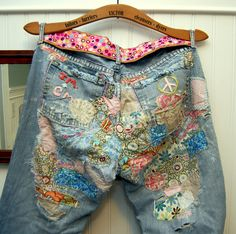 I had a pair of jeans something like this, once upon a time.