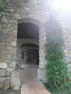 Arched entry to Aquapetra Resort