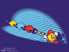 Pac-Mario T-Shirt Designed by David Johnston