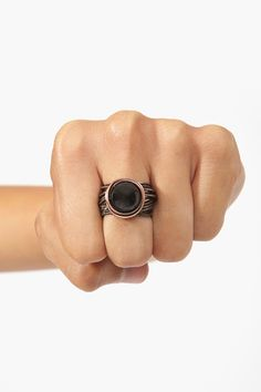 Wired Ring in Black
