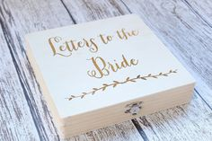 Letters to the Bride Box Rustic Keepsake Box by DownInTheBoondocks