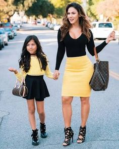 Image result for mom and daughter twinning outfits