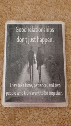 Laminated Wallet Size Inspirational Quote/Message Keepsake Cards -  Good Relationships on Etsy, £2.50