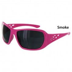 Rose Pink safety glasses: available in clear or smoke colored lenses